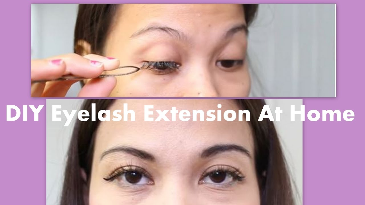 6263b03b399 DIY: How To Put Eyelash Extension By Yourself At Home Permanently ...