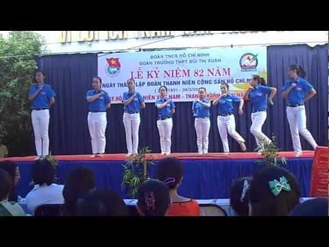 Múa Thanh Niên 23.3.2013 trường THPT Bùi Thị Xuân