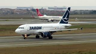 "TAROM Airbus A318 ""BABYBUS"" Close Up Takeoff from Istanbul Atatürk Airport (IST)! | YR-ASD"