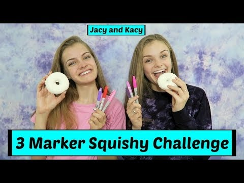 3 Marker Squishy Challenge ~ Jacy and Kacy