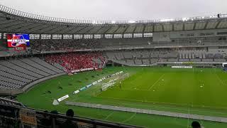 かなりの迫力ででした。 スタジアム内にも響いていました。