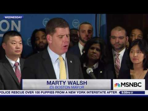 Marty Walsh vows to stand up to Trump