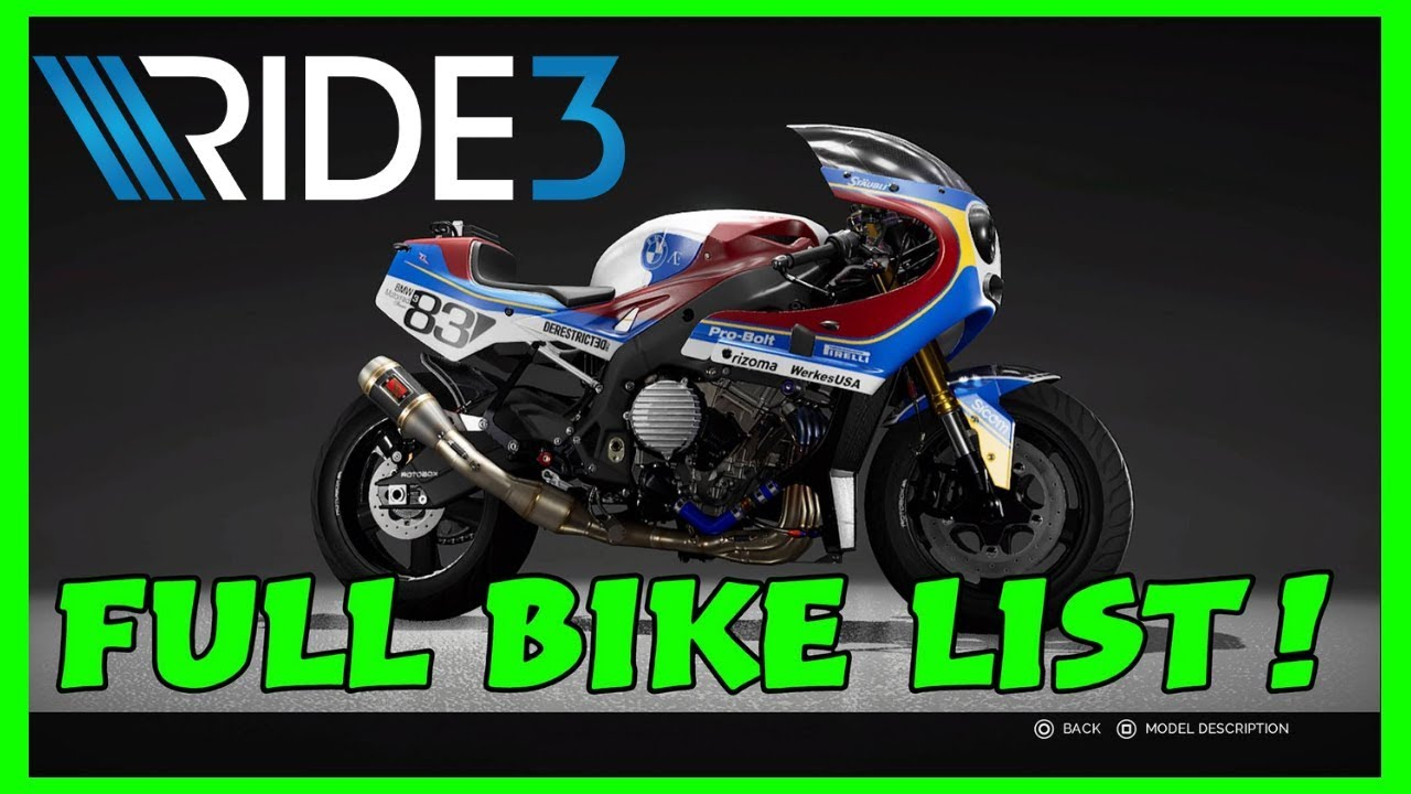 RIDE 3 FULL BIKE LIST & GOLD EDITION DLC | PS4 PRO Gameplay
