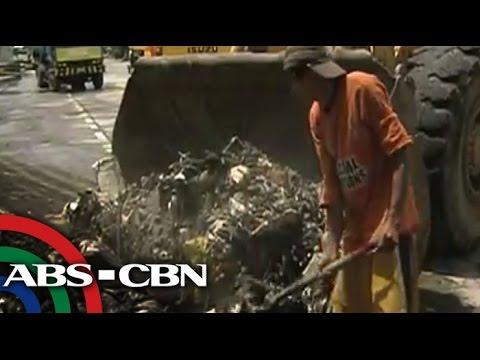 Trak-trak na basura nahakot sa Manila Bay