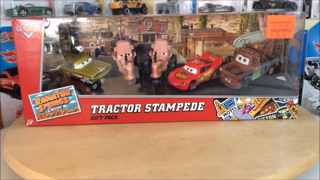 Disney Pixar Cars 2015 Tractor Stampede 5 Car Set Review