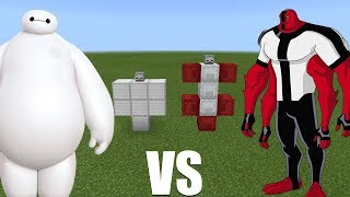 What Happens When You Spawn Ben 10 & Baymax in Minecraft PE?