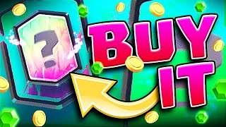 BUYING A LEGENDARY!! • Clash Royale • NEW DECK GAMEPLAY