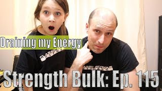 Draining my Energy   Overhead Press Workout   Vlog   Strength Bulk Ep. 115