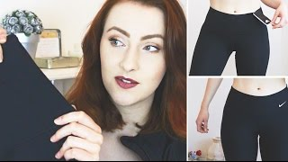 WORKOUT LEGGING REVIEW & TRY ON! NIKE, GYMSHARK, LORNA JANE, ADIDAS • RockyApplebee
