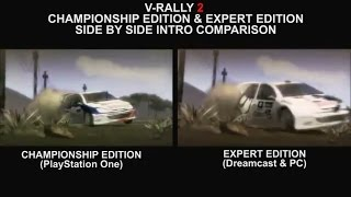V-Rally 2 Championship Edition & Expert Edition | Side by Side Intro Comparison