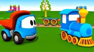 Leo Junior bir buharl tren yapyor - Eitici izgi film