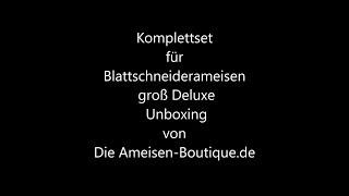 Komplettset für Blattschneiderameisen groß Deluxe - Unboxing - Die Ameisen-Boutique