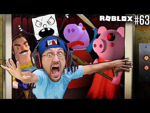 ROBLOX PIGGY Haunted Elevator!  SOMETHING Is WRONG! (#63 FGTeeV Floorror Story)