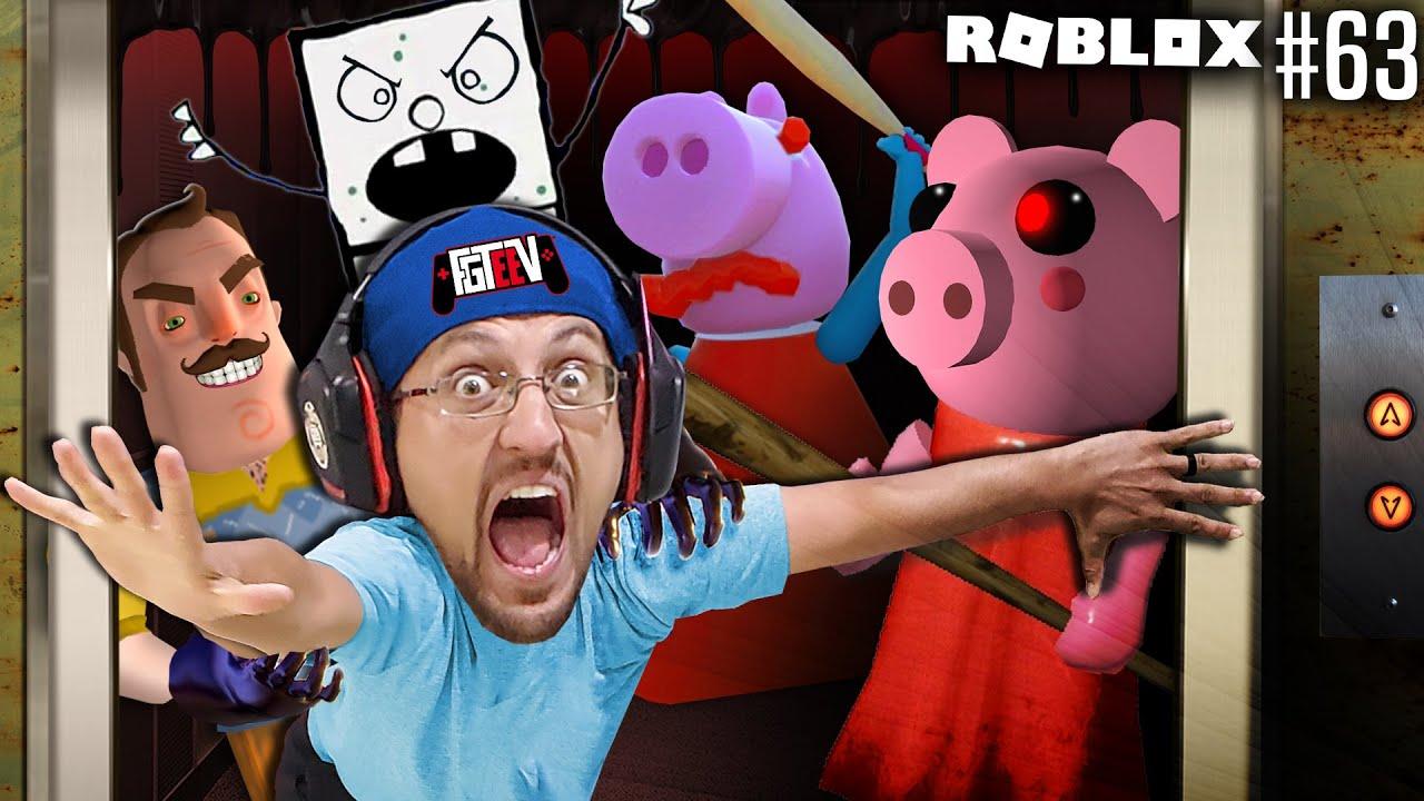 Roblox Piggy Haunted Elevator Something Is Wrong 63 Fgteev