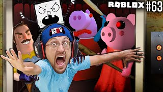 ROBLOX PIGGY Haunted Elevator!  SOMETHING is WRONG! (#63 FGTeeV Floorror Story)
