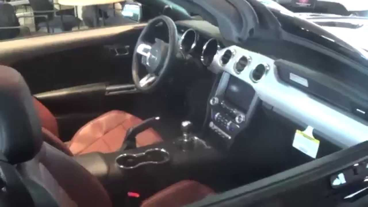 2015 ford mustang gt premium convertible walkround youtube - 2014 Ford Mustang Convertible Interior
