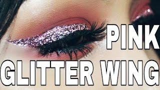 PINK GLITTER WING | MODERN RENAISSANCE MAKEUP TUTORIAL | STEPHANY FLAMENCO