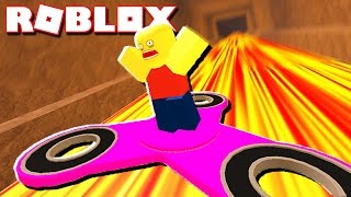 BUILD & RIDE A FIDGET SPINNER IN ROBLOX!