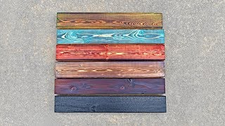 Stained Shou Sugi Ban Yakisugi Tutorial || How to Burn Wood with Color
