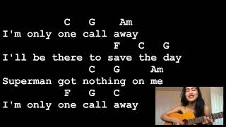 One Call Away - Charlie Puth [Lyrics And Chords] Guitar Tutorial