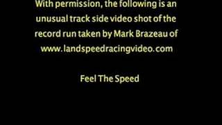 Burkland 415 MPH Land Speed Record Sept 2008
