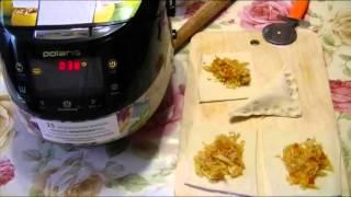 Домашние видео рецепты - слойки с капустой в мультиварке