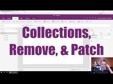 Working with a PowerApps Collection - YouTube