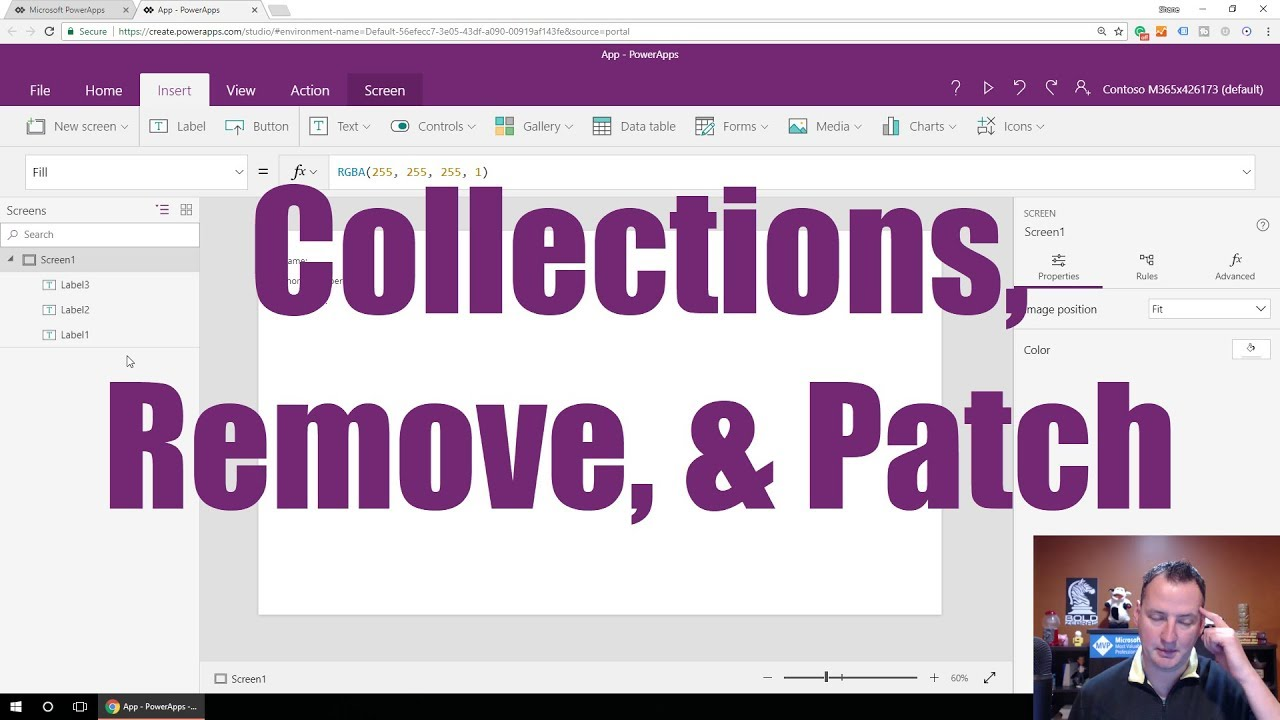 Working with a PowerApps Collection