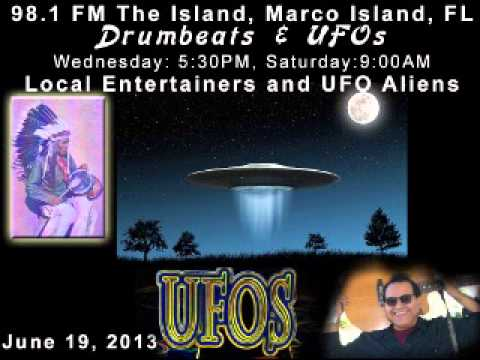 JoeRey, Radio Show on 98.1 FM The Island Drumbeats & UFOs