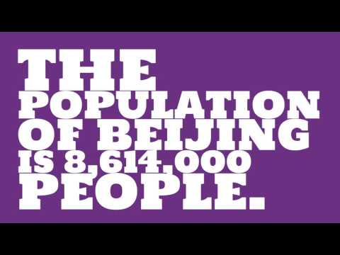 What is the population density of Beijing?