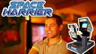 Space Harrier arcade deluxe cabinet.