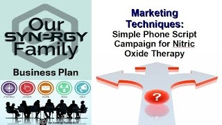 Marketing Techniques Simple Phone Script Campaign for Nitric Oxide Therapy