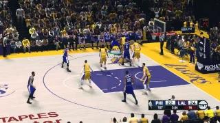 NBA 2K14 (2K18 Mod) - Philadelphia 76ers at Los Angeles Lakers