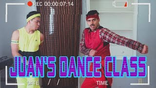 Juan combines dancing and exercising! You're welcome! Burn thousand...
