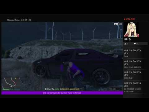 California trans female puing in work on gta 5 online  on  ps4