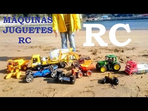 JUGUETES RC PLAYA con TRACTOR John Deere COCHE BUGGY CAMIÓN HORMIGONERA EXCAVADORA CAT INFANTIL