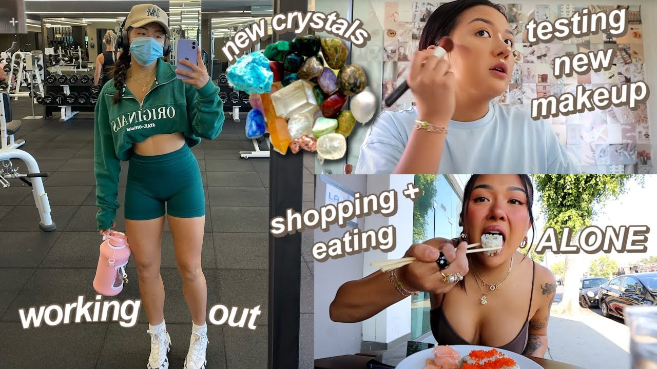 DAY IN MY LIFE LIVING ALONE IN LA *as an 18 year old*   shopping, cooking, GRWM, boy problems lol