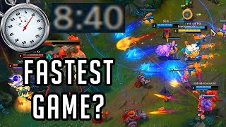 I spent an entire day trying to Speedrun a game of League of Legends...
