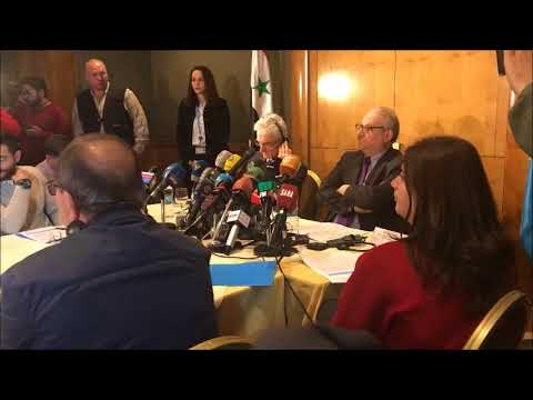 DAMASCUS: UN MARK LOWCOCK PRESS CONFERENCE