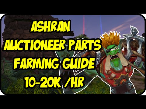 WoW Gold Farming Patch 6.2.3: Ashran Gold Making – Trading Post Auctioneer Parts Gold Farming Guide
