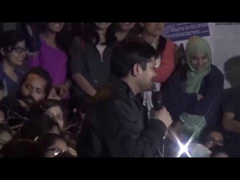 Kanhaiya returns to JNU - Full Speech & Slogans (1 hour 6 minutes)