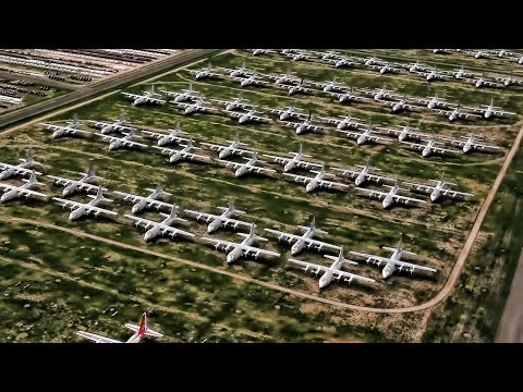 Aerial View Of The Aircraft Boneyard At Davis-Monthan AFB