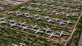 Aerial View Of The Aircraft Boneyard At Davis-Monthan AFB