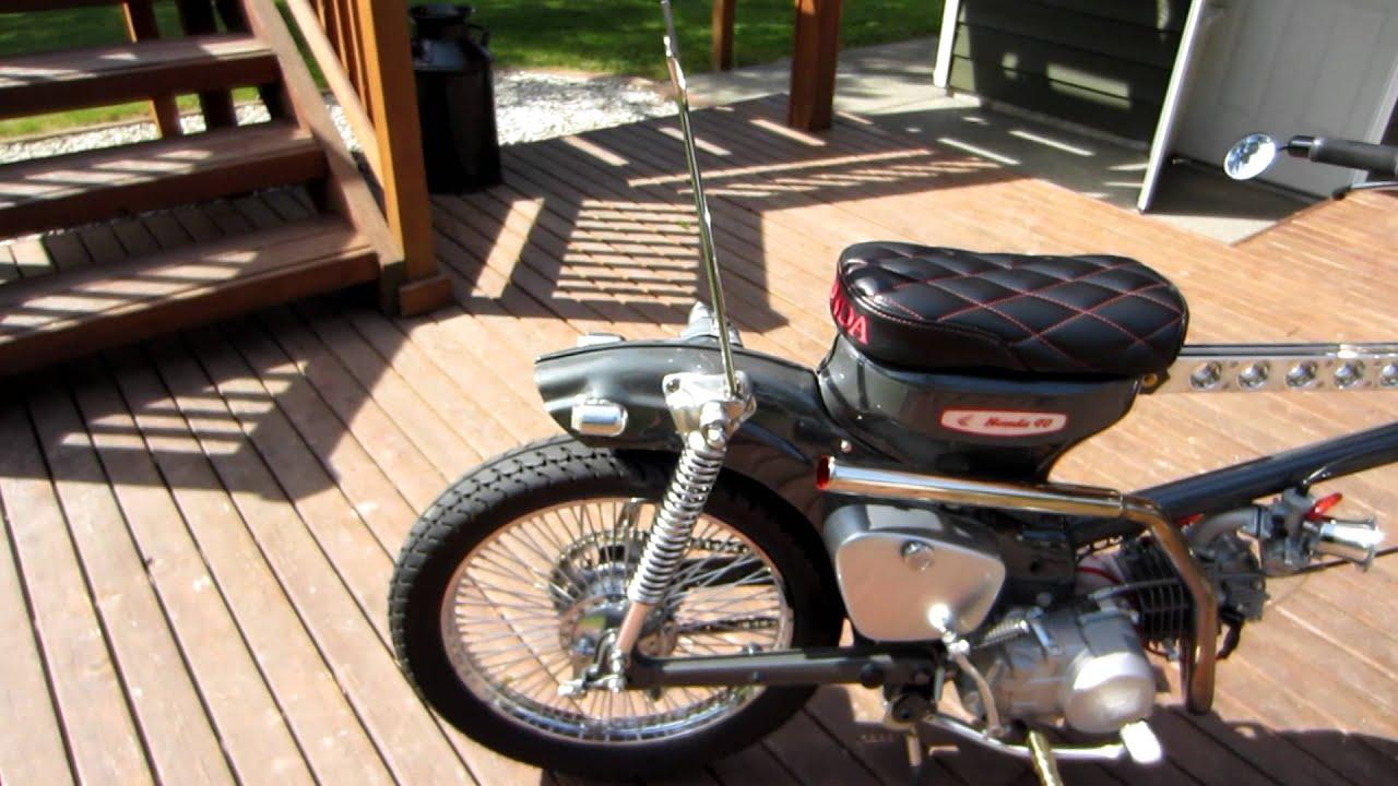 Honda Trail 110 >> 1968 Custom honda trail 90 CT90 - YouTube