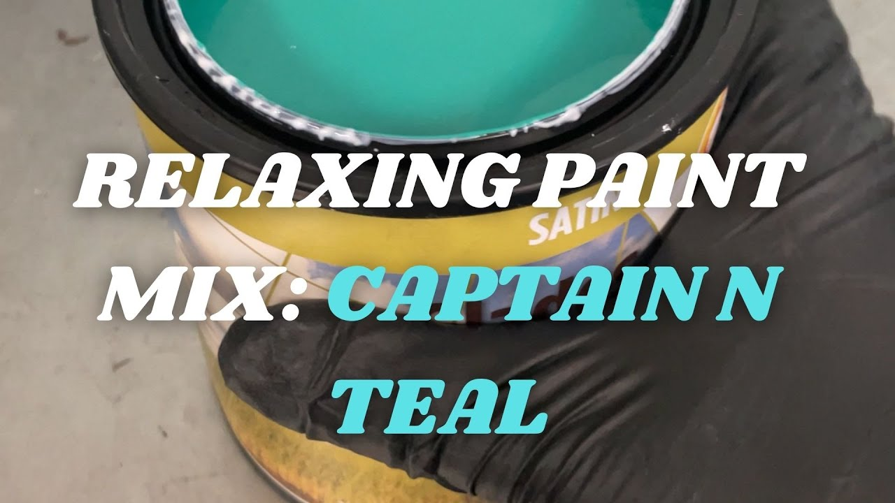 Super Relaxing Color Mix: Captain N Teal #shorts