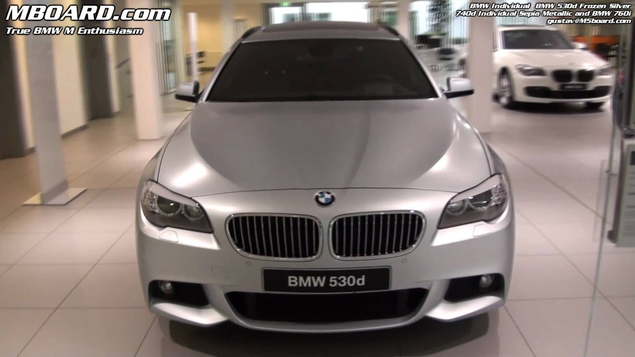 bmw frozen silver individual 530d 5 series f10 and bmw. Black Bedroom Furniture Sets. Home Design Ideas