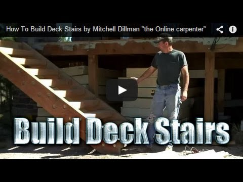 How To Build Deck Stairs Youtube