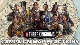 Campaign Map & Starting Factions for Total War THREE KINGDOMS