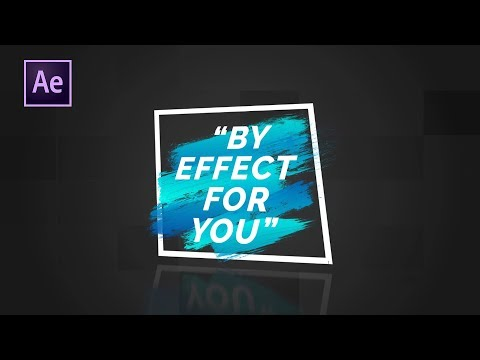 Brush Stroke Title in After Effect | After Effects Tutorial | Effect For You