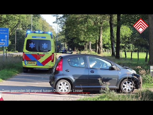 Twee gewonden bij ongeval tussen Oldenzaal en Losser